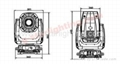 350w 17R beam spot washer 3in1 sharpy moving head light/ beam moving head light 9