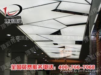 北京彩绘天花 透光膜灯箱膜 动感灯箱 2