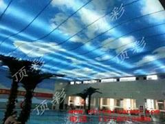 北京室内张拉膜吊顶 透光膜 张拉膜 软膜天花