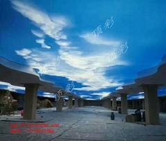 北京頂彩拉膜天花吊頂 牆面燈箱