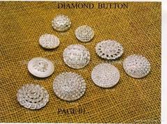 button & stud & garment apparel rhinestone button