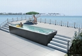 Long outdoor spa swimming whirlpool pool