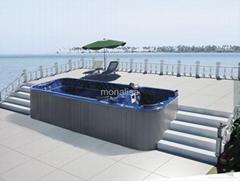 蒙娜丽莎户外浴缸独立式spa按摩冲浪浴缸进口亚克力直销M-3323