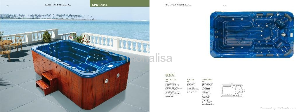 outdoor spa whirl pool swimming pool hot tub  jacuzzi M-3337