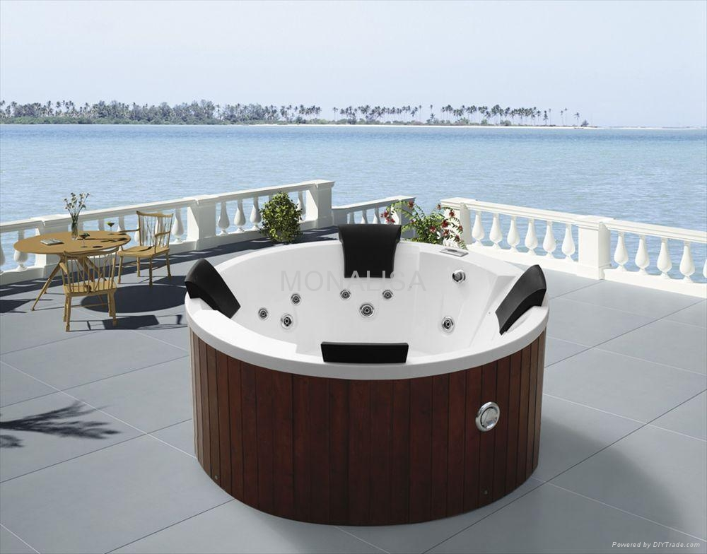 monalisa whirlpool massage round hot tub m 3351 china. Black Bedroom Furniture Sets. Home Design Ideas