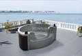outdoor spa  whirl pool  massage bathtub