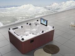 蒙娜麗莎進口亞克力戶外浴缸獨立式按摩浴缸正品土豪浴缸M-3333
