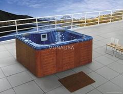 蒙娜麗莎戶外spa浴缸亞克力泡泡浴缸LED燈多人衝浪按摩浴缸M-3321