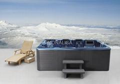 蒙娜丽莎浴缸独立式spa户外浴缸多人按摩冲浪亚克力浴池M-3320