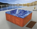 outdoor spa with two lying seats M-3314