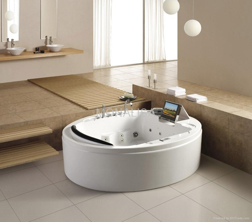 Luxury massage bathtub with TV, DVD, Ice-box, bathroom hot tub M-2047