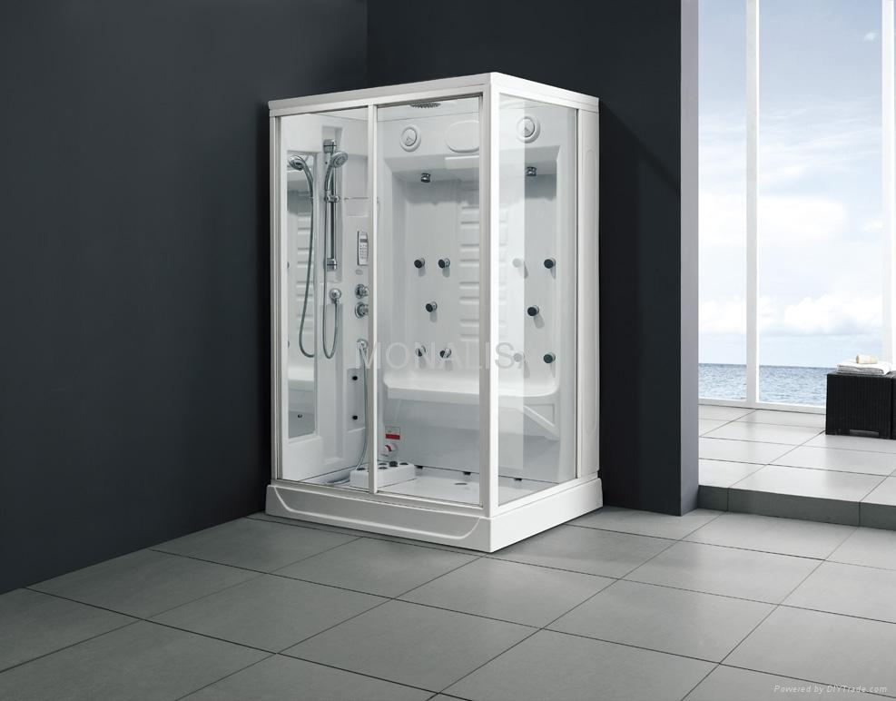 steam room, shower room, cubic room, sauna room