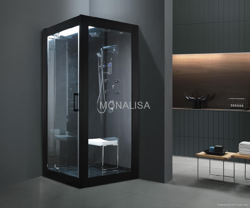 steam room, shower room, cubic room, sauna room