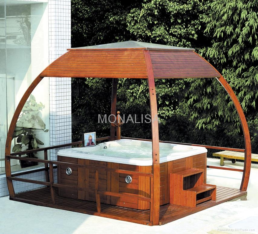 Spa gazebo m 903 gazebo m903 monalisa gazebo china for Diy hot tub gazebo