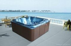 蒙娜丽莎浴缸 户外浴缸多人按摩浴缸 亚克力独立式冲浪浴缸M-3362