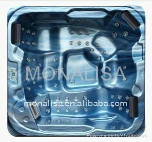 蒙娜麗莎浴缸 戶外浴缸多人按摩浴缸 亞克力獨立式衝浪浴缸M-3362 2