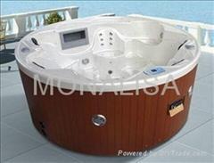 蒙娜麗莎戶外浴缸獨立多人spa浴缸亞克力衝浪按摩浴缸圓形M-3356