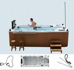 蒙娜麗莎泳池浴缸 多人按摩浴缸戶外浴缸spa泳池進口亞克力M-3370
