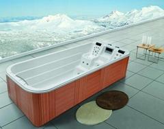 蒙娜丽莎户外浴缸独立式按摩冲浪浴缸进口亚克力外贸浴缸M-3350