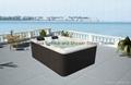 蒙娜丽莎浴缸进口亚克力多人按摩浴缸户外浴缸独立spaM-3371