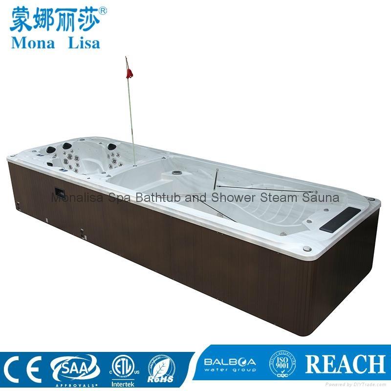 蒙娜麗莎泳池浴缸 多人按摩浴缸戶外浴缸spa泳池進口亞克力M-3373 3