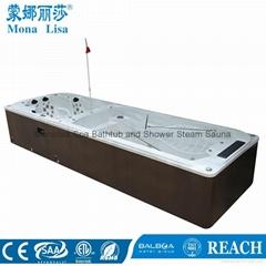 蒙娜麗莎泳池浴缸 多人按摩浴缸戶外浴缸spa泳池進口亞克力M-3373