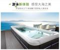 蒙娜丽莎8档无极变速家用超大型运动冲浪无边际户外游泳池SPA浴缸 4