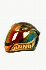 全罩式碳纖維造型彩繪安全帽