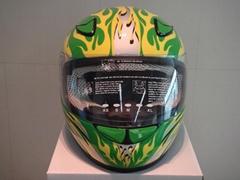 碳纖維安全帽(綠底)