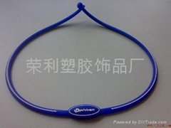 Anion silicone necklace