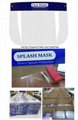 anti-fog transparent Plastic face shield/mask