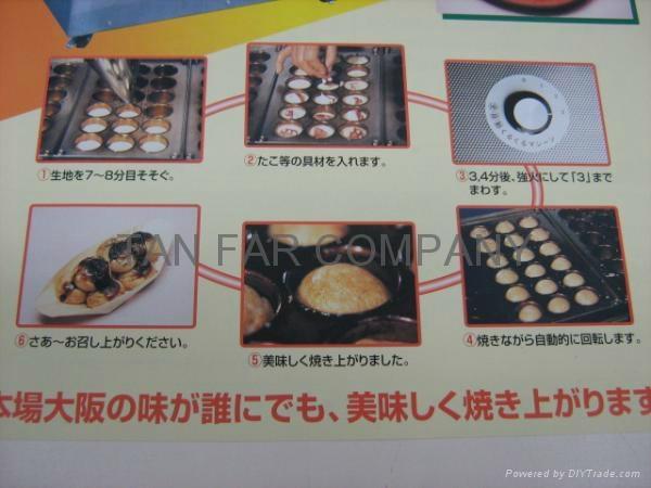 日式自動滾圓章魚燒機(自動小丸子機) 3