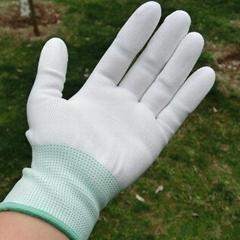 尼龙PU涂指手套尼龙手套防静电手套