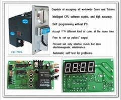 multi coin selector with timer board