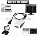 USB 2.0 Video Card Adapter To VGA Graphics Display extra monitor Win 7 XP Vista