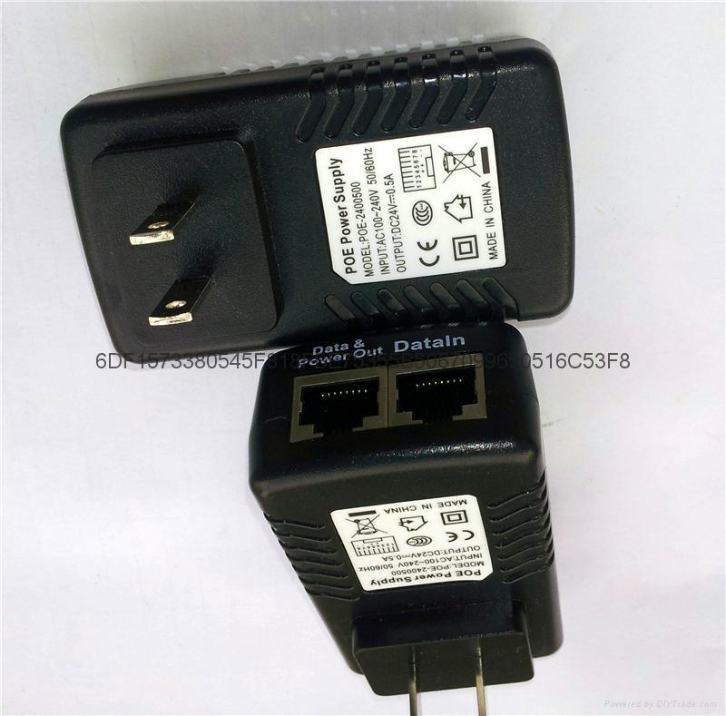 POE电源一体式24V 0.5A 欧规 2