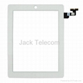 For iPad 2 Touch Screen Panel Front Glass Digitizer White