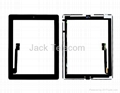 For iPad 3 Black Touch Screen Digitizer Glass Panel Assembly