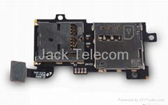 for Samsung I9300 Galaxy S3 SIM and SD Card Holder Flex Cable