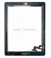 For iPad 2 Touch Screen Glass Panel Digitizer Assembly Black