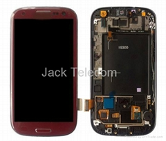 Samsung Galaxy S3 i9300 LCD Digitizer Touch Screen Bezel Asembly Red