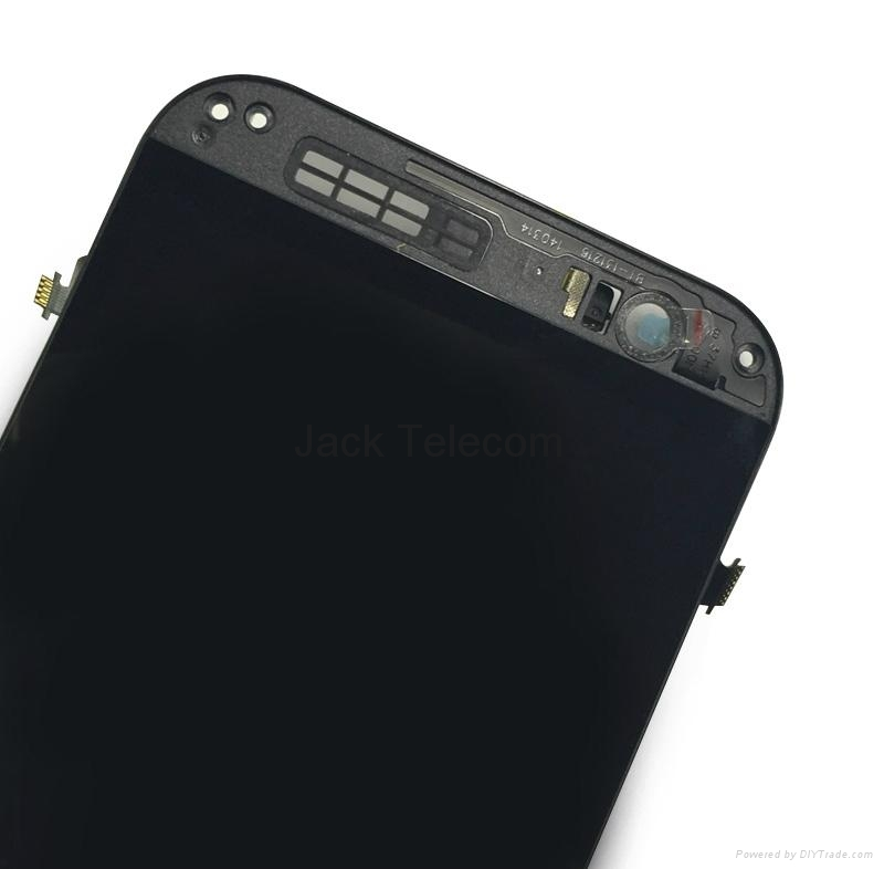 LCD & Digitizer Frame Assembly for HTC One (M8) - Dark Black / For HTC 5