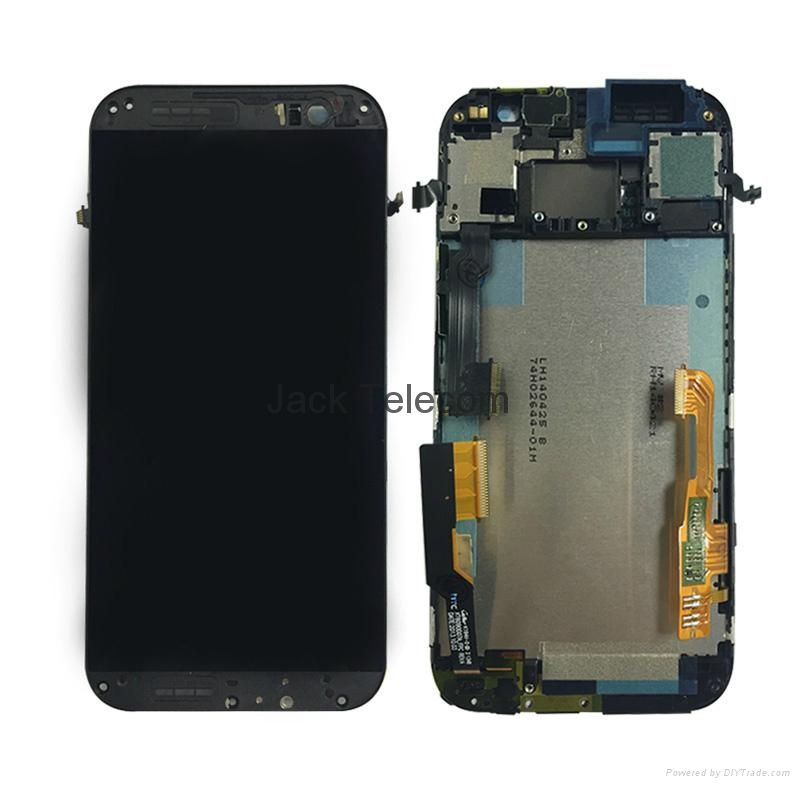 LCD & Digitizer Frame Assembly for HTC One (M8) - Dark Black / For HTC 3