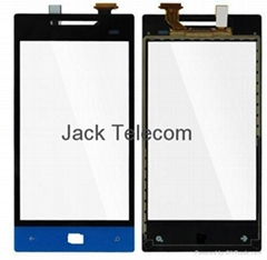 for HTC Windows Phone 8S Digitizer Touch Screen Front Glass Panel