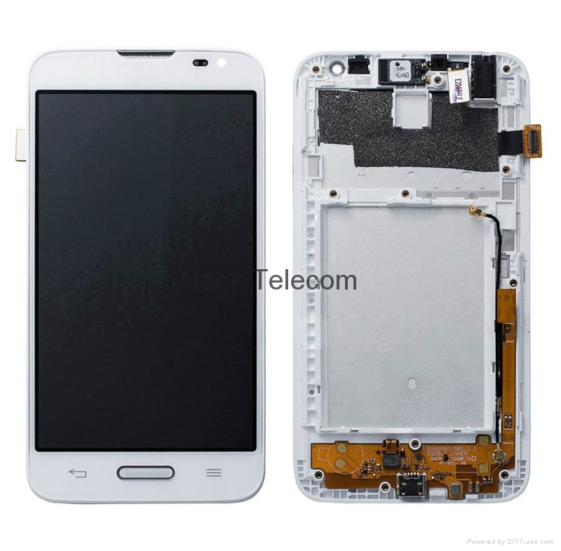 For  LG L70 Touch screen assembly with frame white