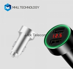 Dual USB Intelligent vehicle Car Charger