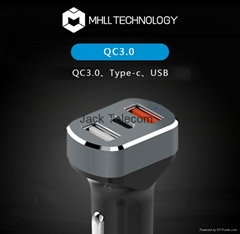 Three USB quick charge 3.0 car charger : MHLL-Y05 (Hot Product - 1*)