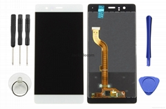 for Huawei P9 lcd screen assembly white