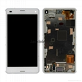For Sony Z3 lcd touch screen replacement white with frame