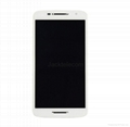 For Motorola Xplay Lcd touch screen assembly with frame white